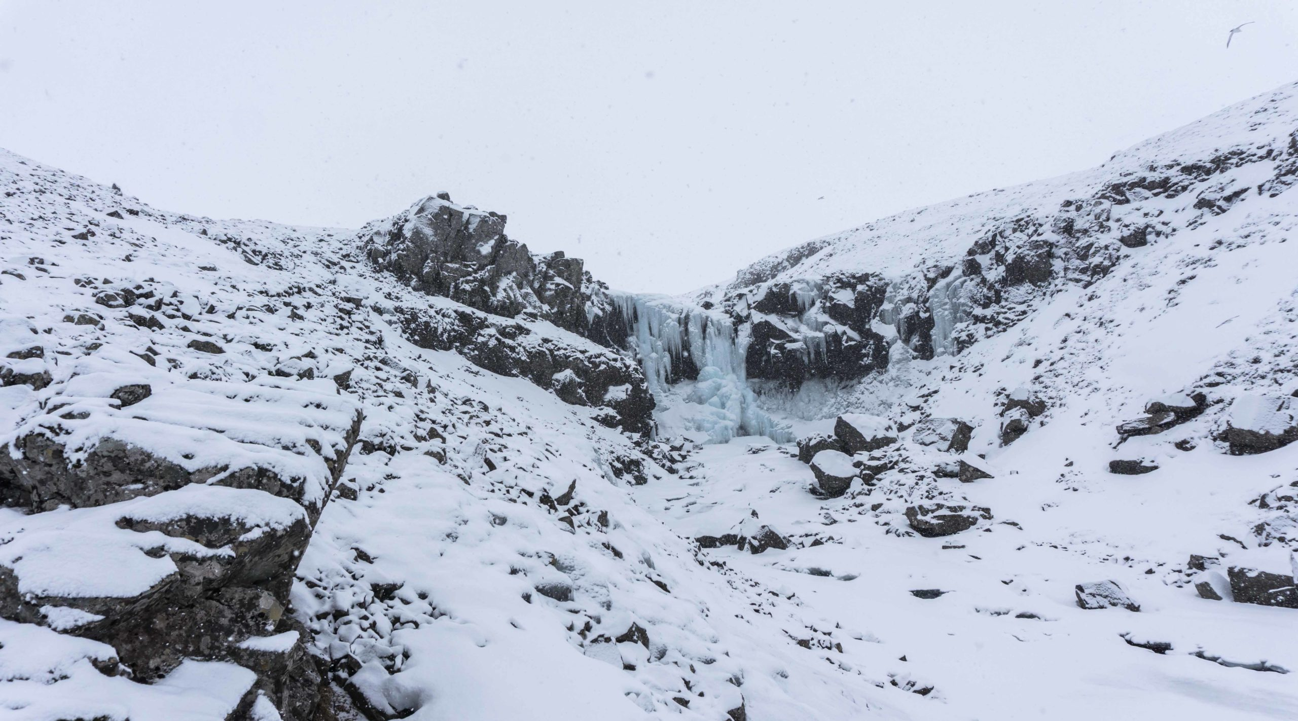 Icy waterfall, waterfall, Iceland, winter, guided tours, super jeep tour,