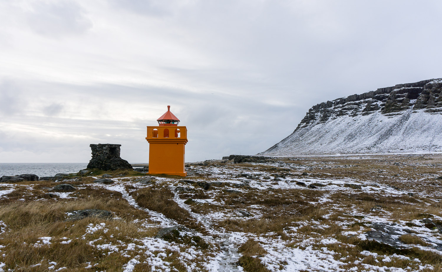 Hafnarnes lighthouse, Iceland, East Iceland, Travel